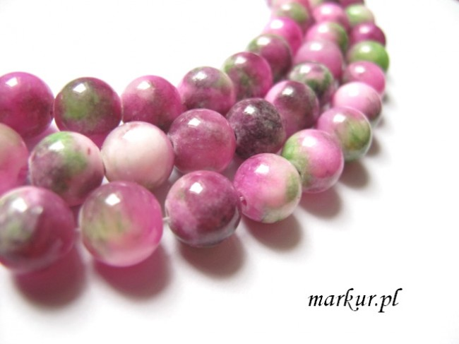 Jadeit ruby mix kula  6 mm sznur