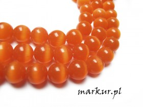 Kocie oko orange kula 10 mm sznur