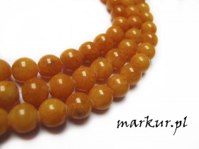 Marmur orange kula  8 mm sznur